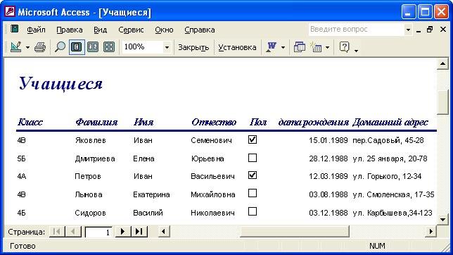 Ms Access Программу